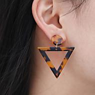 levne -Dámské Geometrické Visací náušnice - Moderní Módní Šperky Černá / Hnědá Pro Ležérní Práce 1 Pair