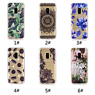 cheap -Case For Samsung Galaxy S9 Plus / S9 Pattern Back Cover Food / Word / Phrase / Lace Printing Soft TPU for S9 / S9 Plus / S8 Plus