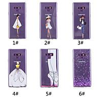 Недорогие Чехлы и кейсы для Galaxy Note-Кейс для Назначение SSamsung Galaxy Note 9 / Note 8 С узором Кейс на заднюю панель С сердцем / Соблазнительная девушка Мягкий ТПУ для Note 9 / Note 8