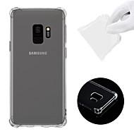 hesapli Galaxy S Serisi Kılıfları / Kapakları-Pouzdro Uyumluluk Samsung Galaxy S9 Şoka Dayanıklı / Şeffaf Arka Kapak Solid Yumuşak TPU için S9