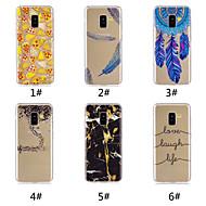 Недорогие Чехлы и кейсы для Galaxy A3(2016)-Кейс для Назначение SSamsung Galaxy A8 Plus 2018 / А7 (2018) С узором Кейс на заднюю панель Продукты питания / Слова / выражения / Перья Мягкий ТПУ для A6 (2018) / A6+ (2018) / A7(2018)