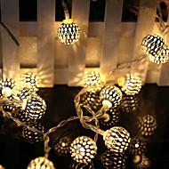tanie -10 m Łańcuchy świetlne 100 Diody LED Ciepła biel Dekoracyjna 220-240 V 1 zestaw