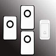 رخيصةأون -لاسلكي واحد إلى ثلاثة الجرس موسيقى / دينغ دونغ جرس الباب غير المرئية في السطح