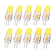 povoljno -SENCART 10pcs 3 W LED svjetla s dvije iglice 450 lm G4 T 1 LED zrnca COB Vodootporno Zatamnjen Toplo bijelo Hladno bijelo 12-24 V