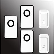 رخيصةأون -لاسلكي اثنين إلى ثلاثة الجرس موسيقى / دينغ دونغ جرس الباب غير المرئية في السطح