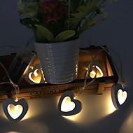 tanie -1.5 m Łańcuchy świetlne 10 Diody LED Ciepła biel Dekoracyjna 12 V 1 zestaw