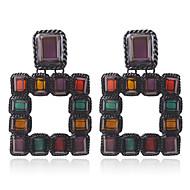 저렴한 -여성용 드랍 귀걸이 - 클래식 보석류 골드 / 블랙 제품 거리 1 쌍
