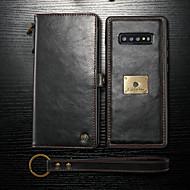 CaseMe Etui Käyttötarkoitus Samsung Galaxy Galaxy S10 / Galaxy S10 Plus / Galaxy S10 E Lomapkko / Korttikotelo / Iskunkestävä Suojakuori Yhtenäinen Kova PU-nahka varten Galaxy S10 / Galaxy S10 Plus