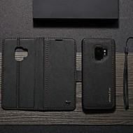 ราคาถูก -WHATIF Case สำหรับ Samsung Galaxy S9 Wallet / Card Holder / with Stand ตัวกระเป๋าเต็ม สีพื้น Hard หนัง PU สำหรับ S9