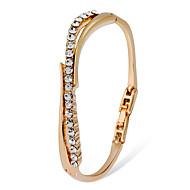 preiswerte -Damen Klar Kubikzirkonia Klassisch Tennis Armbänder - 18K vergoldet, Diamantimitate Künstlerisch Armbänder Schmuck Gold Für Alltag Formal