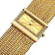 저렴한 -ASJ 여성용 드레스 시계 일본어 일본 쿼츠 구리 화이트 / 골드 캐쥬얼 시계 아날로그 사치 빈티지 - 실버 골드 골드 / 화이트 1 년 배터리 수명 / SSUO SR626SW + CR2025