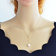 levne -Dámské Laso Y Náhrdelník - Perly Jednoduchý, Módní Půvab Zlatá, Stříbrná 46 cm Náhrdelníky Šperky 1ks Pro Denní