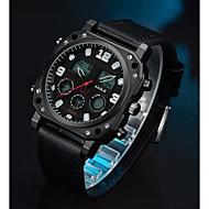 저렴한 -ASJ 남성용 스포츠 시계 디지털 시계 일본어 일본 쿼츠 천연 가죽 블랙 100 m 캐쥬얼 시계 아날로그-디지털 캐쥬얼 패션 - 블랙 2 년 배터리 수명 / SSUO SR626SW + CR2025