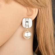 preiswerte -Damen Schick Tropfen-Ohrringe - Künstliche Perle Luxus Schmuck Weiß / Schwarz / Rot Für Hochzeit Party Strasse Büro & Karriere 1 Paar