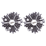 cheap -Women's Retro Stud Earrings - Imitation Pearl Vintage Jewelry Black For Street Going out 1 Pair