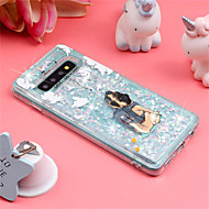 cheap -Case For Samsung Galaxy Galaxy S10 Plus / Galaxy S10 E Shockproof / Flowing Liquid / Pattern Back Cover Dog / Glitter Shine Soft TPU for S9 / S9 Plus / S8 Plus