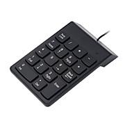 tanie -LITBest s003 USB Wired Klawiatura numeryczna biuro klawiatura Klawiatura numeryczna 18 pcs Klawiatura