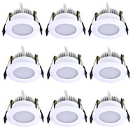 cheap -JIAWEN 9pcs 3 W 240 lm 6 LED Beads Easy Install Recessed LED Downlights Warm White Cold White 220 V Ceiling