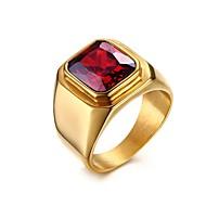 Χαμηλού Κόστους -Ανδρικά Κόκκινο Δαχτυλίδι Δακτυλίδι με σφραγίδα Τιτάνιο Ατσάλι Μοδάτο Δαχτυλίδι Κοσμήματα Κόκκινο Για Δώρο Καθημερινά