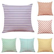 cheap -6 pcs Linen Pillow Cover, Simple Geometric Pattern Animal New Arrival European Style