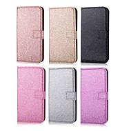 cheap -Case For Samsung Galaxy A7(2018) / A6+ (2018) Wallet / Card Holder / Rhinestone Full Body Cases Solid Colored / Glitter Shine Hard PU Leather for A5(2018) / A6 (2018) / A6+ (2018)