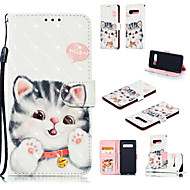 cheap -Case For Samsung Galaxy Galaxy S10 Plus / Galaxy S10 E Wallet / Card Holder / with Stand Full Body Cases Cat Hard PU Leather for S9 / S9 Plus / Galaxy S10