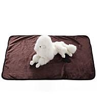 tanie -Zatrzymujący ciepło / Składany / Miękka Ubrania dla psów Łóżko / Ręczniki Solidne kolory Kawowy / Niebieski / Różowy Psy / Koty