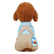 economico -Prodotti per cani Completi Abbigliamento per cani Monocolore Personaggio Blu Rosa Tessuto Costume Per Corgi Beagle Bulldog Autunno Inverno Per maschio Per femmina Sport Casual