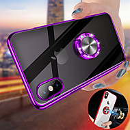 Etui Til Apple iPhone XS / iPhone XS Max Belægning / Ringholder / Transparent Bagcover Ensfarvet Hårdt PC for iPhone XS / iPhone XR / iPhone XS Max
