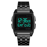 Χαμηλού Κόστους -SKMEI Ανδρικά Ψηφιακό ρολόι Ψηφιακό Ανοξείδωτο Ατσάλι Μαύρο / Ασημί / Χρυσό 30 m Ανθεκτικό στο Νερό Ημερολόγιο Χρονόμετρο Ψηφιακό Καθημερινό Μοντέρνα - Μαύρο Ασημί Χρυσό Τριανταφυλλί