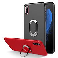 tok Για Apple iPhone XR / iPhone XS Max Ανθεκτική σε πτώσεις / Επιμεταλλωμένη / Βάση δαχτυλιδιών Πίσω Κάλυμμα Μονόχρωμο Μαλακή TPU για iPhone XS / iPhone XR / iPhone XS Max