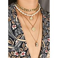 Χαμηλού Κόστους -Γυναικεία Κολιέ Τσόκερ Κρεμαστά Κολιέ Κρεμαστό Ρομαντικό Μοντέρνα Κομψό Χρυσό 28 cm Κολιέ Κοσμήματα 1pc Για Δώρο Καθημερινά Βραδινό Πάρτυ Ημερομηνία Φεστιβάλ / πολυεπίπεδη Κολιέ