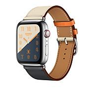 시계 밴드 용 Apple Watch Series 4/3/2/1 Apple 클래식 버클 천연 가죽 손목 스트랩