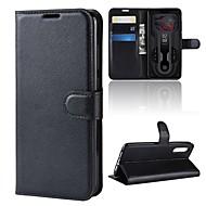 Etui Til Xiaomi Mi 9 / Mi 9 SE Pung / Kortholder / Flip Fuldt etui Ensfarvet Hårdt PU Læder for Xiaomi Mi Play / Xiaomi Redmi Note 7 / Xiaomi Redmi Note 7 Pro