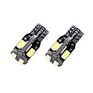 2pcs T10 / W5W Bil Elpærer 1.35 W SMD 5730 10 LED Nummerpladelys / Indvendige Lights / Side Marker Lights Til Universel Alle år