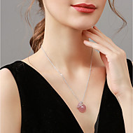 저렴한 -여성용 목걸이 아시안 핑크 40+5 cm 목걸이 보석류 1 개 제품 생일 선물 애인