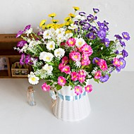 cheap -Artificial Flowers 10 Branch Classic Stage Props Pastoral Style Daisies Eternal Flower Tabletop Flower