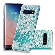 cheap -Case For Samsung Galaxy Galaxy S10 Plus / Galaxy S10 E Shockproof / Transparent / Pattern Back Cover Mandala Soft TPU for S9 / S9 Plus / S8 Plus