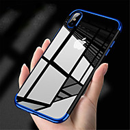 cheap -Case For Apple iPhone XS / iPhone XS Max Plating / Ultra-thin / Transparent Back Cover Solid Colored Soft TPU for iPhone XS / iPhone XR / iPhone XS Max