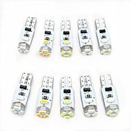 10pcs T5 Bil Elpærer 0.5 W SMD 3014 80 lm 5 LED Indvendige Lights Til Universel Alle år