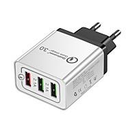 halpa -USB-laturi -- 3 Työpöydän latausasema Quick Charge 2.0 -ohjelmalla US-pistoke / EU-pistoke Latausadapteri