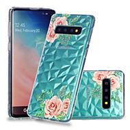 cheap -Case For Samsung Galaxy Galaxy S10 Plus / Galaxy S10 E Shockproof / Transparent / Pattern Back Cover Flower Soft TPU for S9 / S9 Plus / S8 Plus