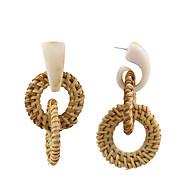 저렴한 -여성용 짜임 드랍 귀걸이 귀걸이 자연적 보석류 밝은 브라운 제품 파티 기념일 선물 캐쥬얼 일상 1 쌍