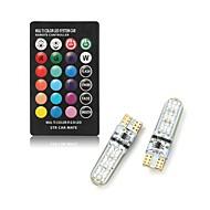 1set 2 W Smart LED-lampe 250 lm T10 T10 6 LED Perler SMD 5050 Fjernstyret Multi-farver 12 V
