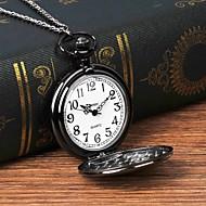 Χαμηλού Κόστους -Ανδρικά Ρολόι Τσέπης Χαλαζίας Ασημί Καθημερινό Ρολόι Μεγάλο καντράν Αναλογικό Μοντέρνα Λεκτικό ρολόι - Μαύρο