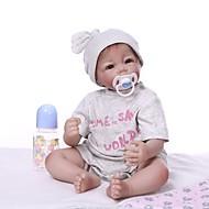 ราคาถูก -NPKCOLLECTION Reborn Dolls เด็กผู้ชาย 22 inch ไวนิล - เหมือนจริง น่ารัก การปลูกถ่ายประดิษฐ์ตาสีน้ำตาล เด็ก ทุกเพศ Toy ของขวัญ