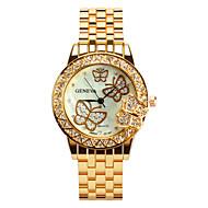 preiswerte -Damen Quartz Uhr Freizeit Modisch Silber Gold Rotgold Legierung Quartz Gold Silber Rotgold Armbanduhren für den Alltag 30 m 1 Stück Analog Ein Jahr Batterielebensdauer