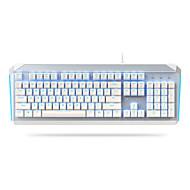 abordables -DAREU EK822 USB filaire clavier mécanique Lumineux Mécanique Bleu rétro-éclairé 104 pcs Clés
