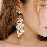 levne -Dámské Visací náušnice Napodobenina perel Náušnice stylové Šperky Stříbrná Pro Denní 1 Pair