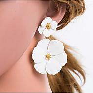 Χαμηλού Κόστους -Γυναικεία Πολύχρωμο Γεωμετρική Κρεμαστά Σκουλαρίκια Σκουλαρίκια Λουλούδι Ευρωπαϊκό Κοσμήματα Μπεζ / Λευκό Για Καθημερινά 1 Pair